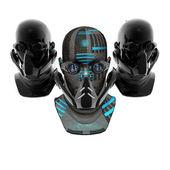 Cyborg heads, robots — Stock Photo