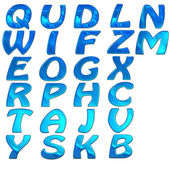 Set of 3d bright alphabet — Stock Photo