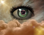 Beautiful 3D girl eye — Stock Photo