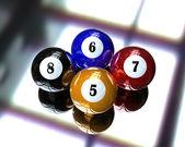 4 бассейн бильярдный шар — Стоковое фото