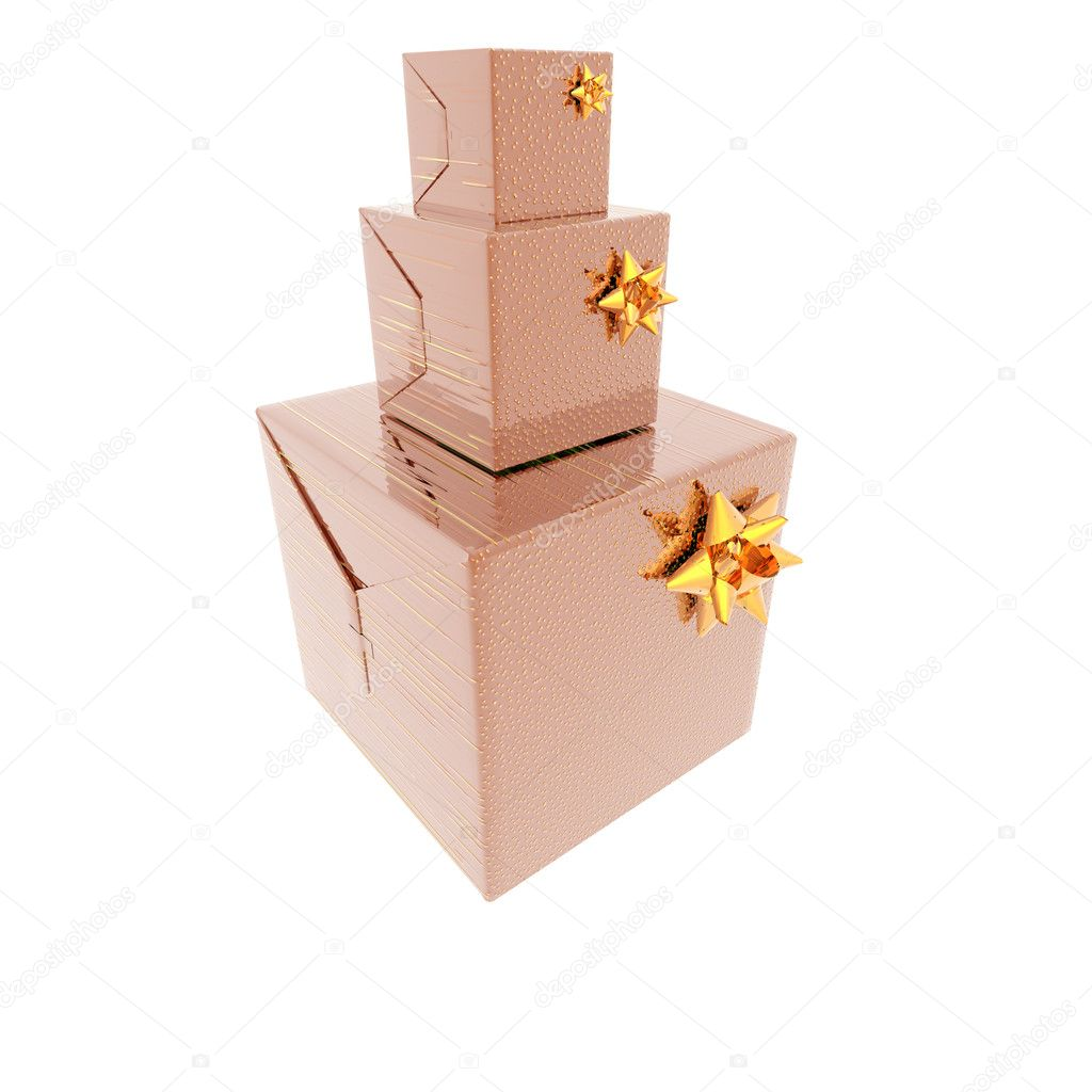Christmas presents and gifts box isolated on a white background — Stock Photo #1145663