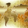 Stock Photo: World map silhouette