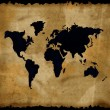Stock Photo: Old world map on grunge paper