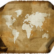Stock Photo: Old world map on grunge retro paper