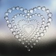 Abstract heart water drops background — Stock Photo #1327946