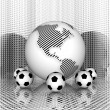 Soccer ball with earth — Stock Photo #1328048