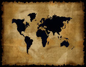 Old world map on grunge paper — Stock Photo