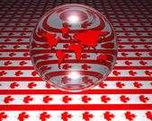 Model of world map with canadian flag — Stock Photo