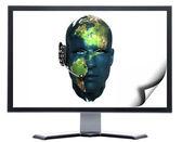 Monitor s kovovou obrazovky — Stock fotografie