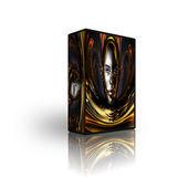 Blank CD DVD box template — Stock Photo
