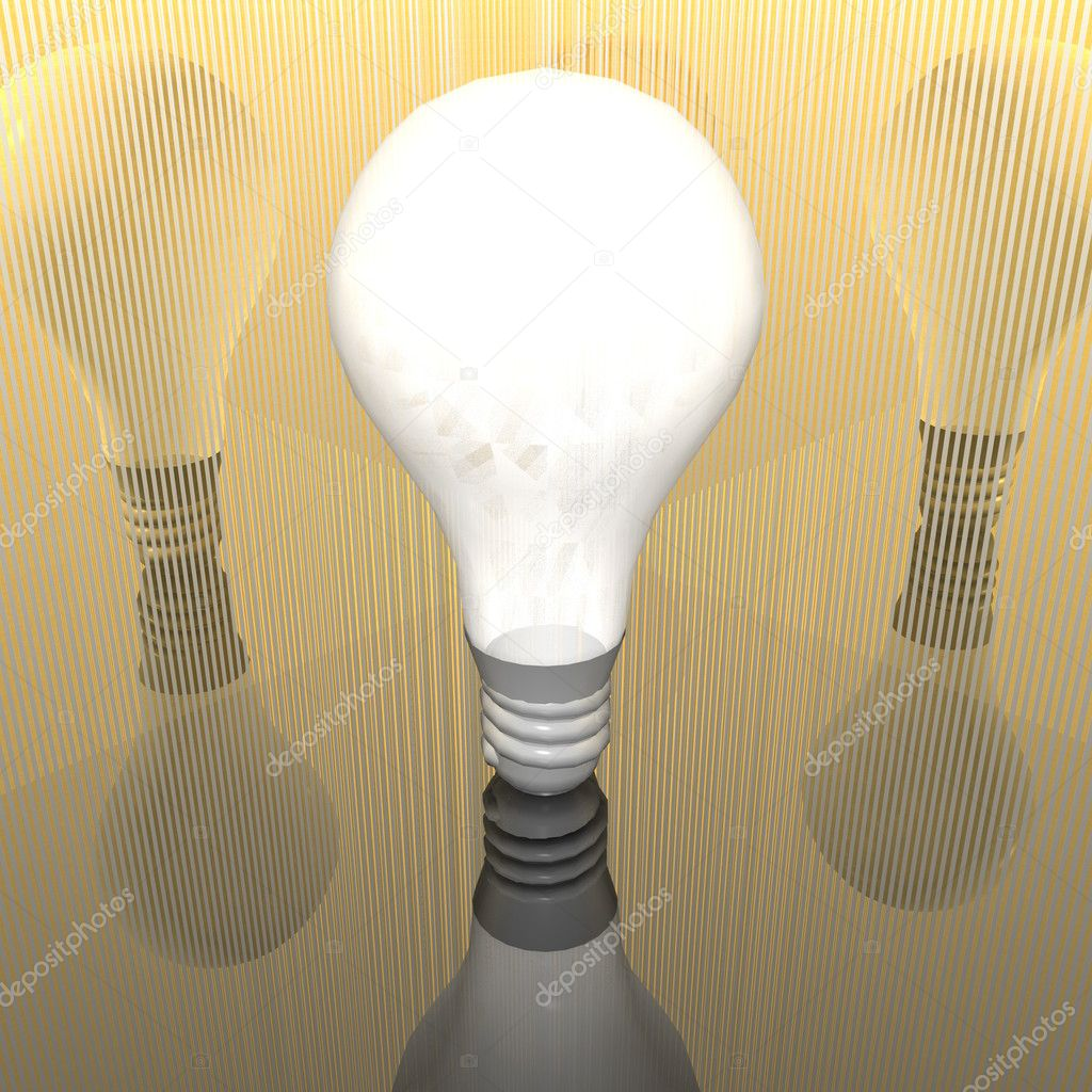 3D lamp with grid textured room — Stock Photo #1327875