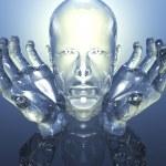 3D cabeça de homens de vidro — Fotografia Stock  #1881418