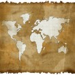 Old world map on grunge retro paper — Stock Photo