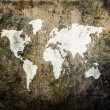 Old world map on retro paper — Stock Photo #1881633