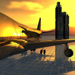 Stock Photo: Airliner
