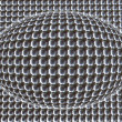 Bright metal balls background — Stock Photo