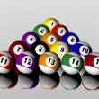Fifteen pool billiard balls — Stock Photo #1881769