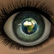 Beautiful girl eye in 3D — Stock Photo