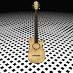 Cool 3D guitar — Stock Photo