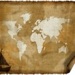 Old world map on grunge retro paper — Stock Photo #1881929