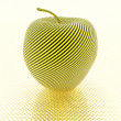 Apple with yellow stripe texture — Stock Photo