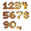 Stock Photo: Set of 3d metal digits