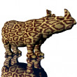 3d rino model with modifyed skin — Stock Photo