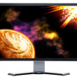 Stock Photo: Monitor with solar sky