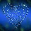 Abstract heart water drops background — Stock Photo #1882264