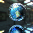 3d earth in defence — Foto de Stock