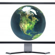 Monitor with metal screen — Stock Photo #1882654
