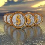 Golden coin — Stock Photo