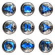 Lunar player buttons — Stock Photo