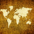 Old world map on retro paper — Stock Photo #1883918