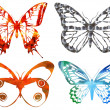 Stock Photo: Bright metal butterfly