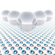 Abstract 3d glass balls with eye — Stock Photo