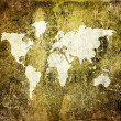 Old world map on retro paper — Stock Photo #1884804