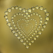 Abstract heart water drops background — Stock Photo #1884811
