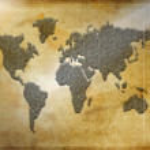 World map silhouette — Stock Photo #1885282