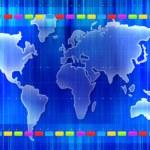 World map silhouette — Stock Photo #1886035