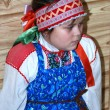 Russian girl in traditional clothes — Stock Photo #1886957