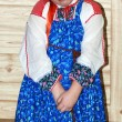 Russian girl in traditional clothes — Stock Photo