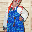 Russian girl in traditional clothes — Stock Photo #1886995