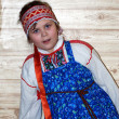 Russian girl in traditional clothes — Stock Photo #1886998