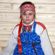 Stock Photo: Russian girl in traditional clothes