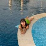 Girl in swimming pool — Stock Photo #1887121
