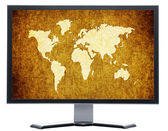 Monitor with metal screen — Stockfoto