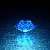 Blue cool bright diamond brilliant — Stock Photo