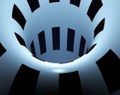Abstract creative techno tunnel — Stock Photo