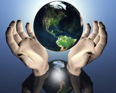 3D earth — Stock Photo